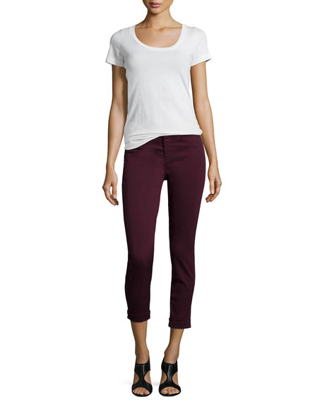 Anja Skinny Cuffed Ankle Jeans