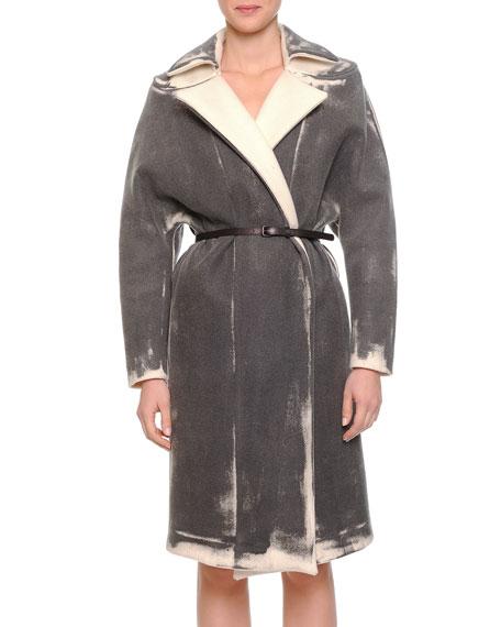 Bottega Veneta Painted Cashmere-Blend Twill Coat