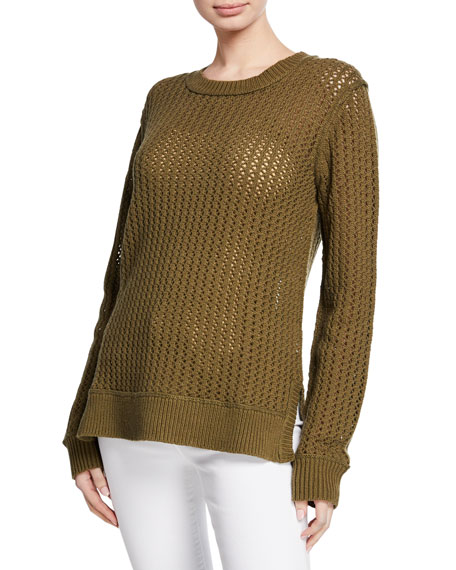 Michael Kors Long-Sleeve Zigzag-Ribbed Sweater