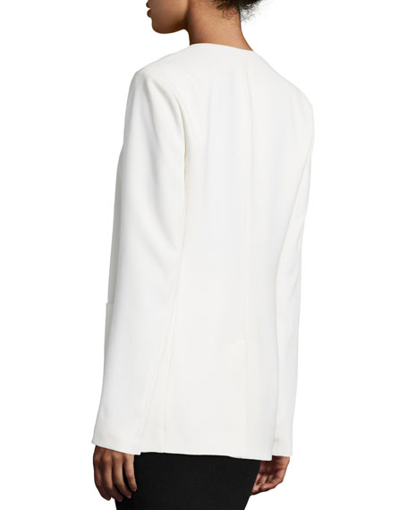 Crepe Open-Front Blazer