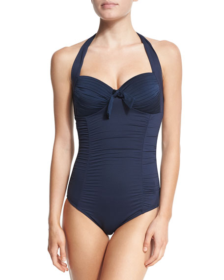 Seafolly Maillot Soft-Cup Halter One-Piece Swimsuit
