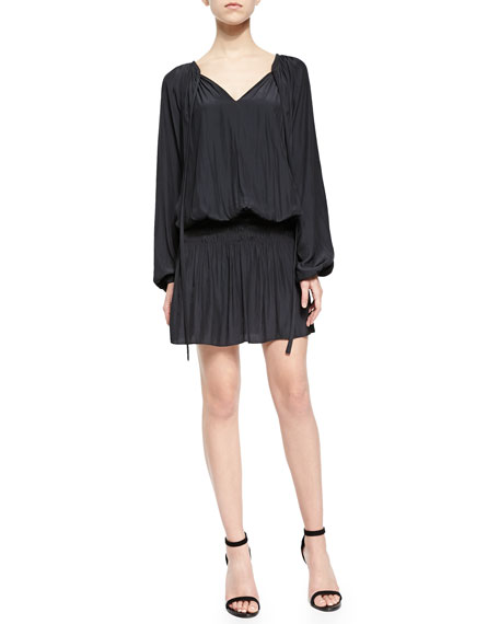 Ramy Brook Paris Blouson Drop-Skirt Dress