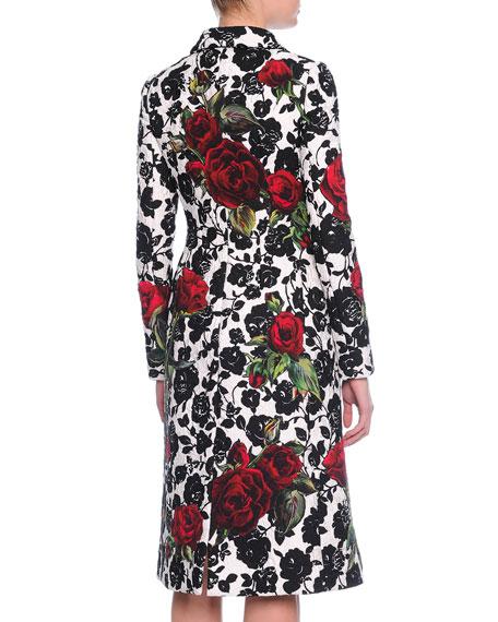 Dolce & Gabbana LS DBL BRSTD PRINT COAT