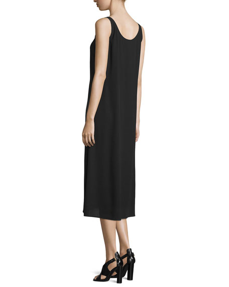 Scoop-Neck Silk Tank Dress