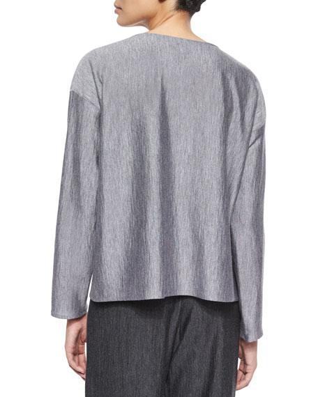 Long-Sleeve Bateau-Neck Top