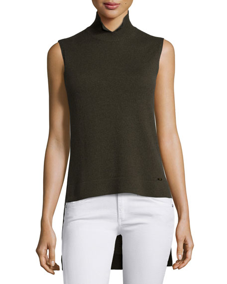 Akris Sleeveless High-Low Cashmere Sweater