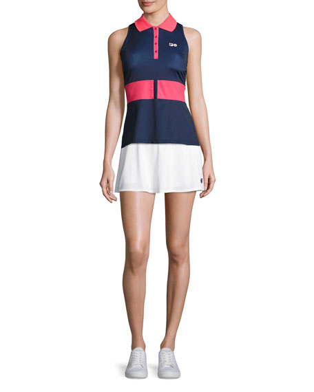 MB Court Central Sleeveless Polo Shirt