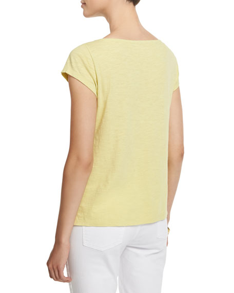 Cap-Sleeve Organic Cotton Slub Top