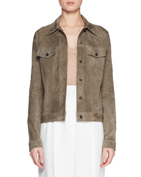 THE ROW Coltra Lambskin Leather Jacket