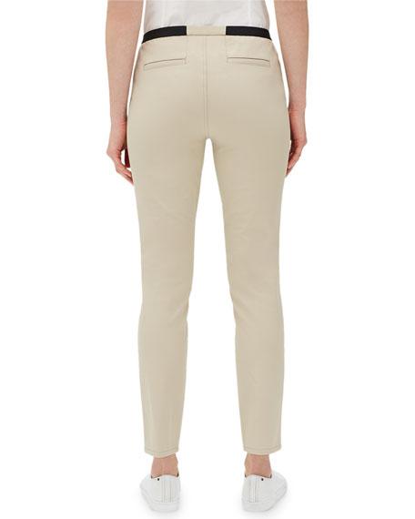 Elastic-Waist Slim-Leg Ankle Pants