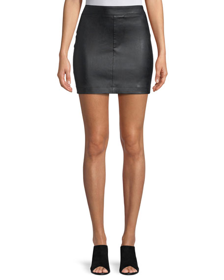 Image 1 of 3: Helmut Lang Straight Leather Mini Skirt