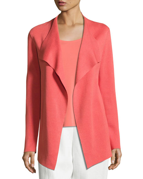 Eileen Fisher Open Interlock Jacket, Flora, Plus Size