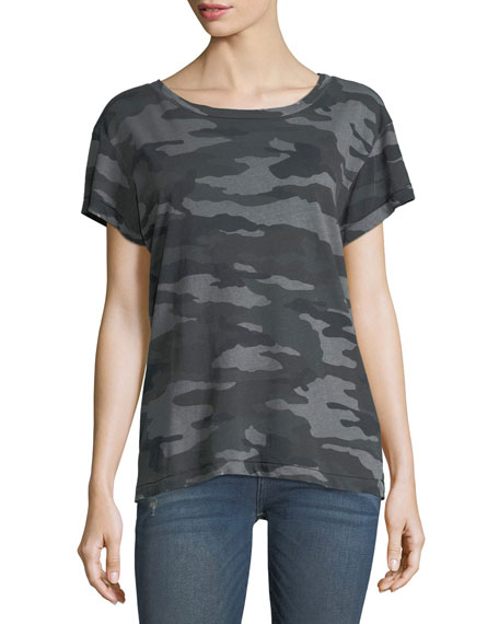 Current/Elliott Crewneck Camo Short-Sleeve Tee