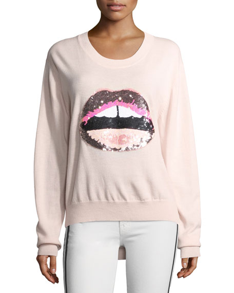 Markus Lupfer Lara Lip Tonal Sequined Joey Jumper