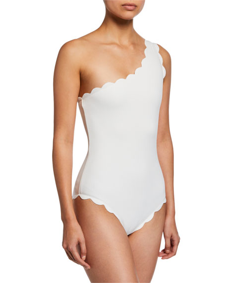 Marysia Santa Barbara One-Shoulder Maillot Swimsuit