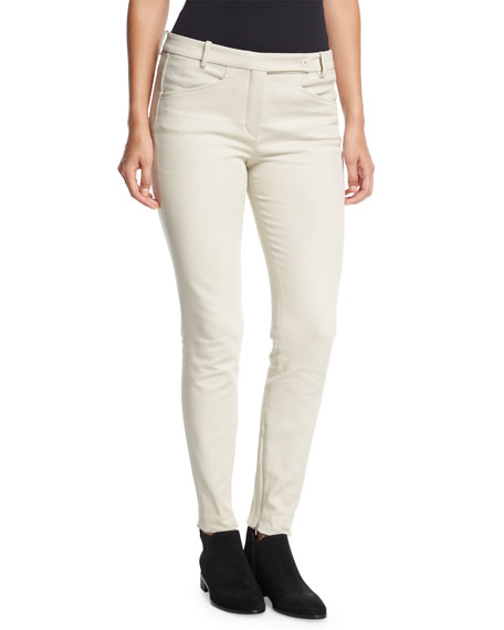 Loro Piana Daryl Ribbed Skinny Pants