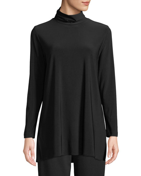 Caroline Rose Long-Sleeve Knit Turtleneck