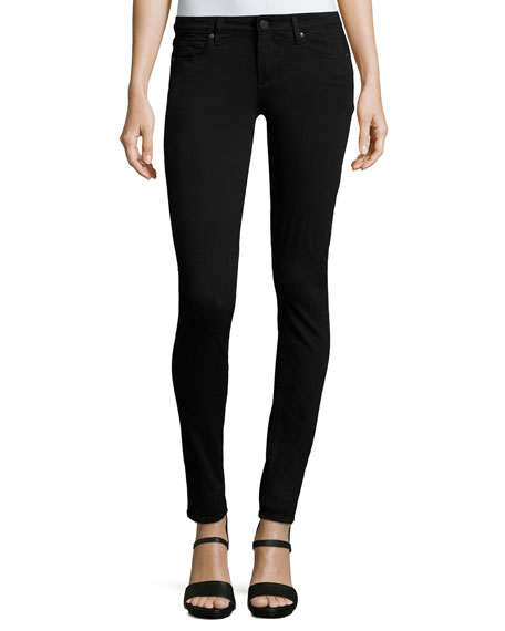 Paige Verdugo Mid-Rise Ultra Skinny Jeans, Black Shadow