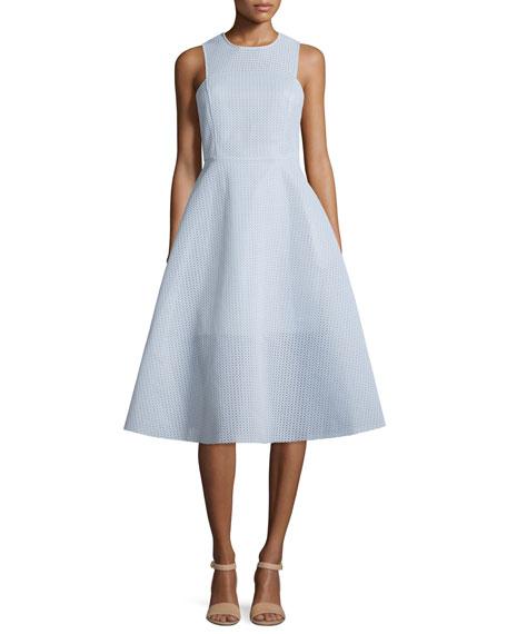 Erin Fetherston Newbury Sleeveless Midi Dress, Blue Mist