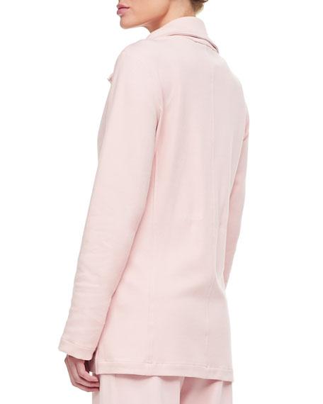 Joan Vass Petite Long Sleeve Jog Jacket