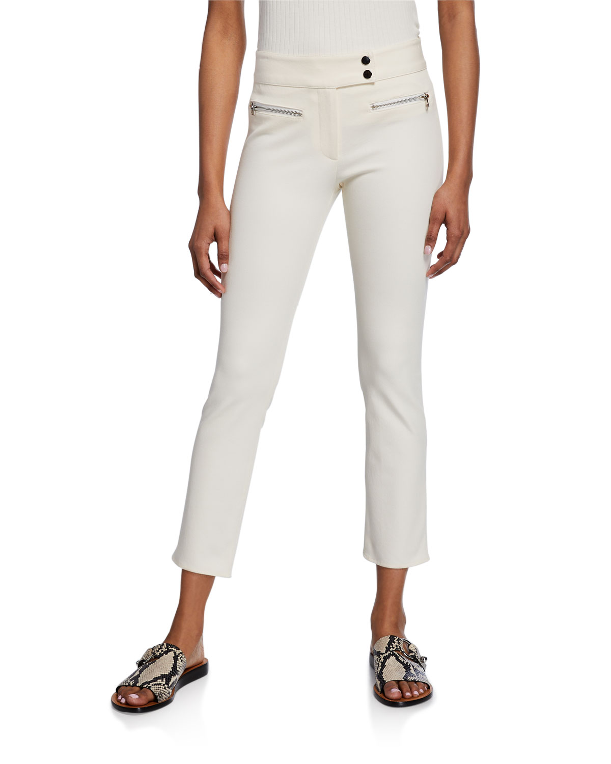 Veronica Beard Metro Cropped Kick Flare Pants
