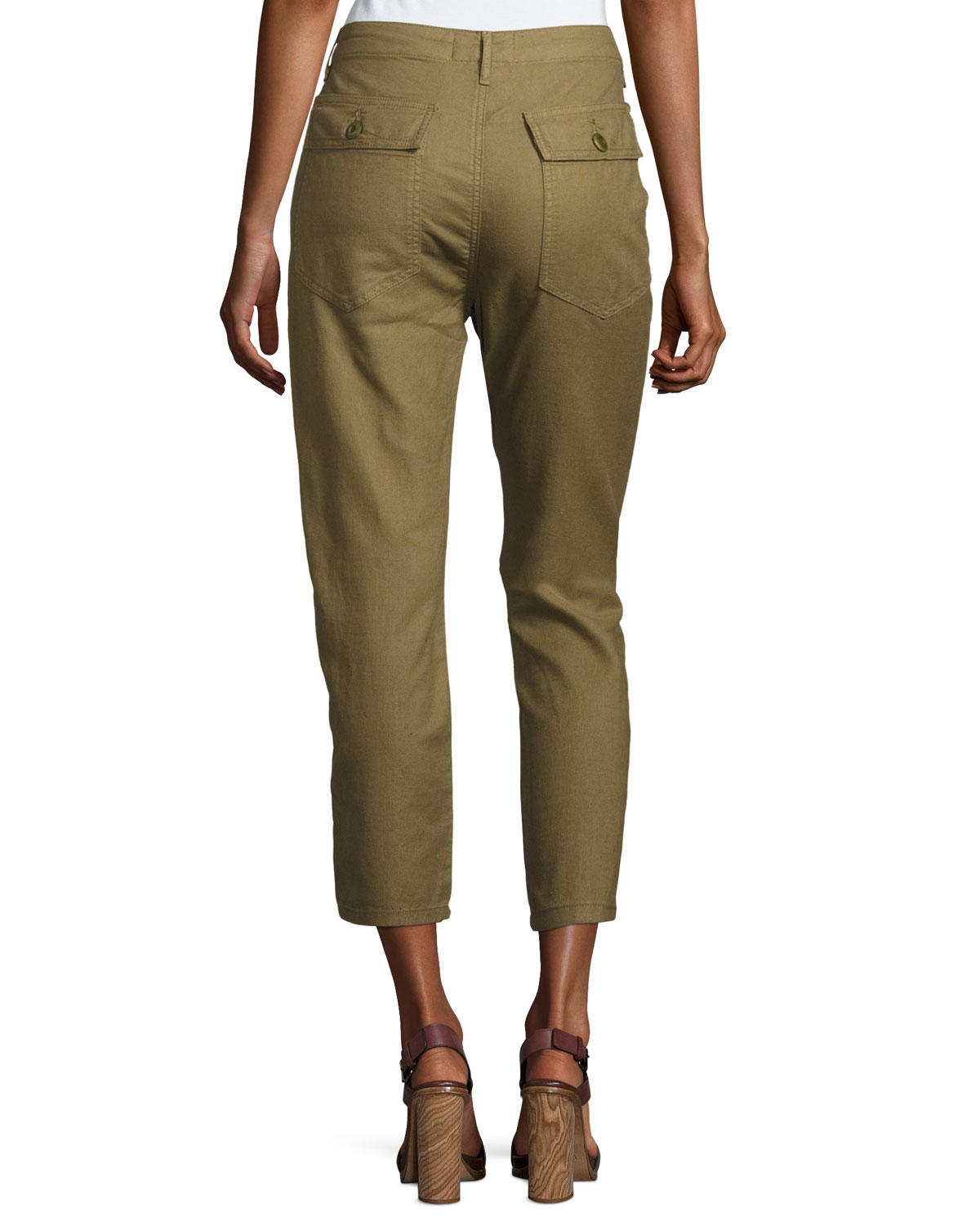 The Great The Slouch Army Cargo Pants Olive Neiman Marcus