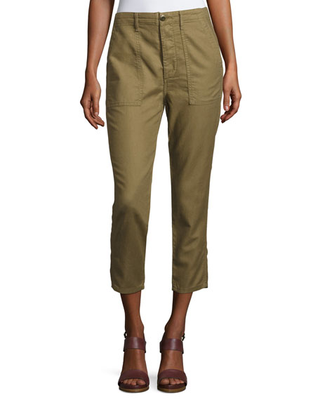 The Great The Slouch Army Cargo Pants, Olive