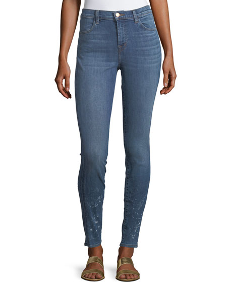 J Brand Maria High-Waist Skinny Jeans, Decoy Destruct