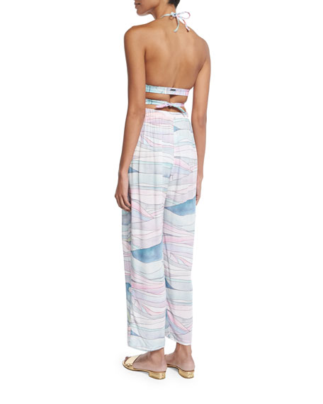 Waves Tie-Front Coverup Pants