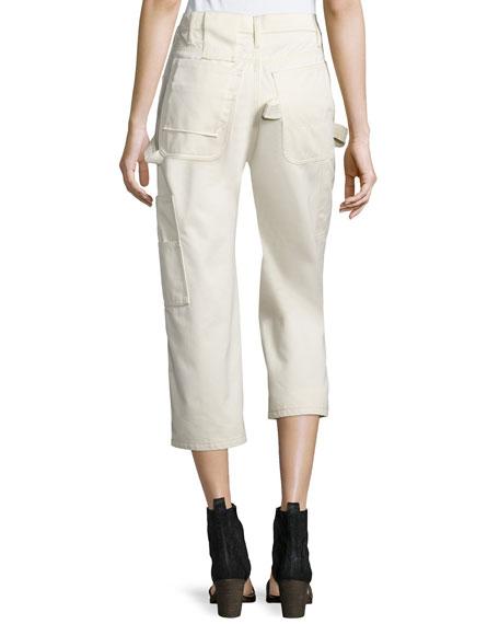Cotton Painter Pants, White