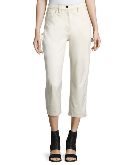 Maison Margiela Cotton Painter Pants, White