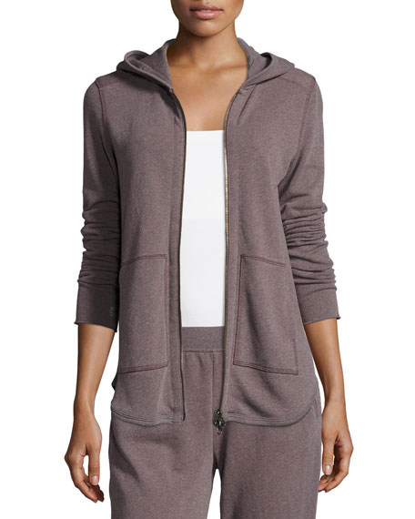 ATM Anthony Thomas Melillo Long-Sleeve Zip-Front Hoodie