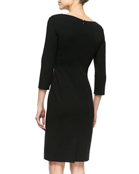 Double-Face Jersey Sheath Dress