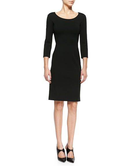Armani Collezioni Double-Face Jersey Sheath Dress