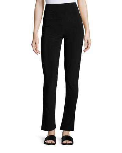 Boot-Cut High-Waist Pants  Black