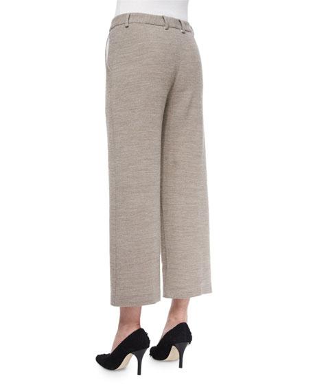 Helmut Lang Cropped Wide-Leg Dress Pants