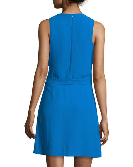 Jones Sleeveless Crepe Dress