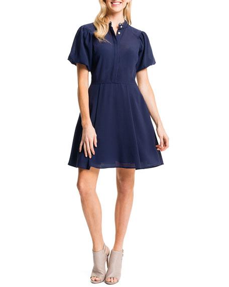 Cynthia Steffe Ellie Shirtdress W/ Puffed Sleeves