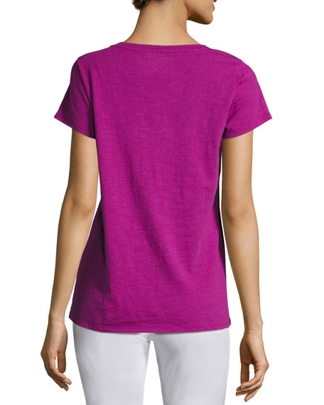 Plus Size Short-Sleeve V-Neck Jersey Tee