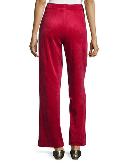 Velour Full-Length Jog Pants