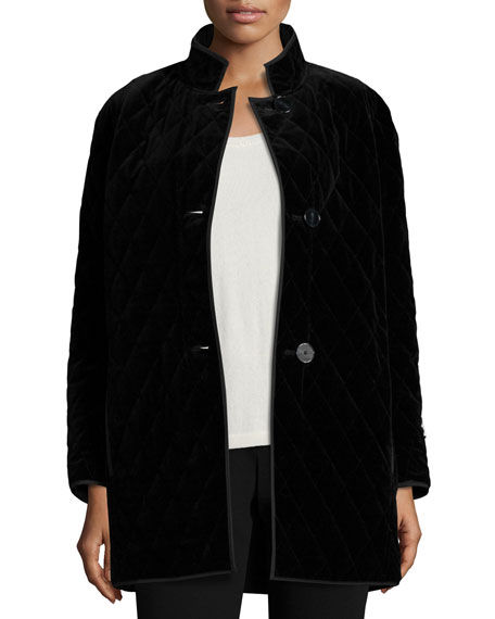 Quilted Velvet Raincoat