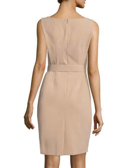 Jacket & Belted Sheath Dress Set