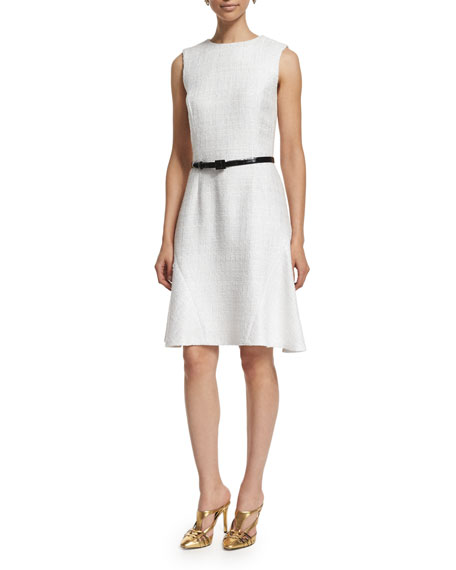 Oscar de la Renta Sleeveless A-Line Day Dress,