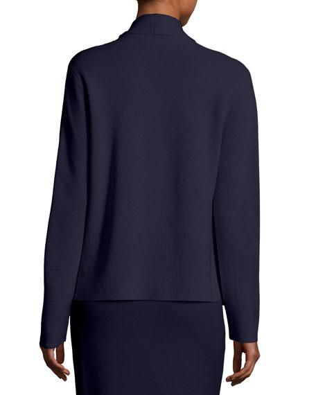 Eileen Fisher Plus Size Shawl-Collar Draped Knit Jacket