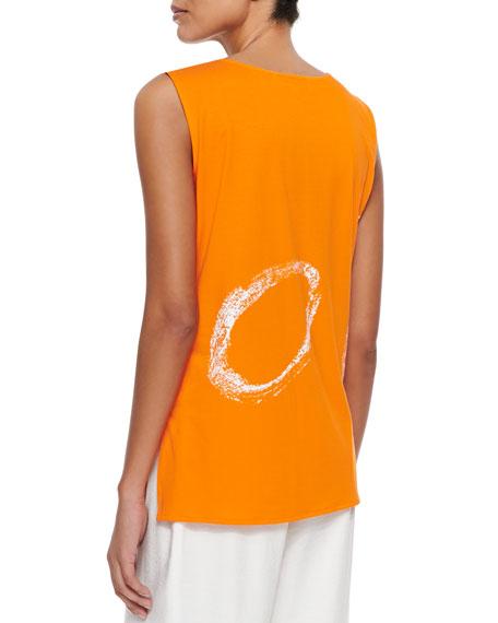 Caroline Rose Plus Size Orange Swirl Longer Tank