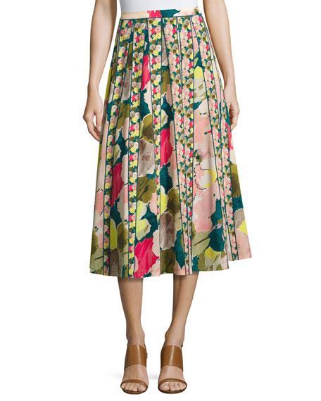 Lafayette 148 New York Adalia Floral-Print Silk Midi