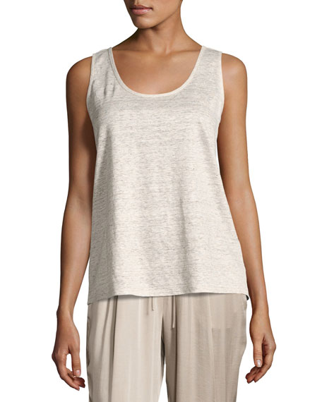 Lafayette 148 New York Linen Melange Jersey Scoop-Neck