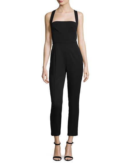 Black Halo Bene Halter Sleeveless Slim Jumpsuit
