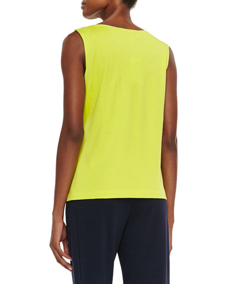 Sequined Trim Tank, Wild Lime, Petite