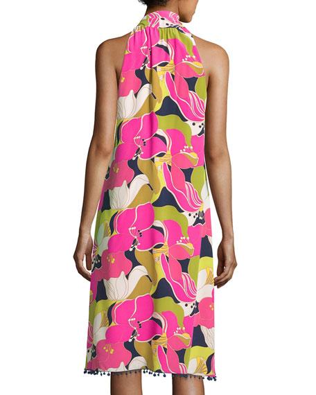 Wailua Floral Dress w/ Bow Detail, Multi